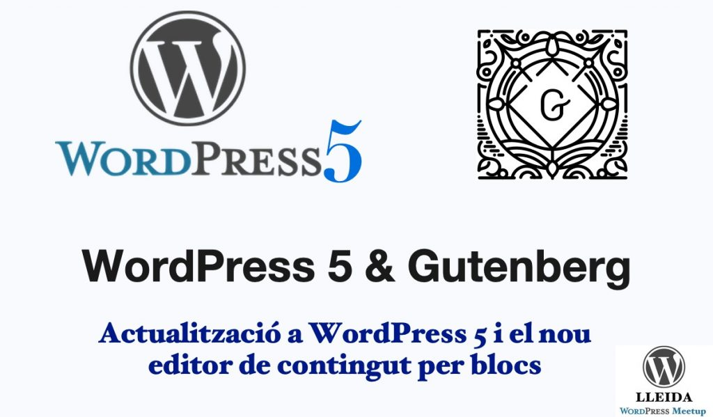 WordPress 5 i el nou editor 'Gutenberg'